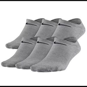 Nike Performance No Show Socks 3 Pairs -Grey 6-10